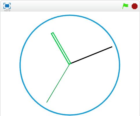 算数を使う時計プログラム