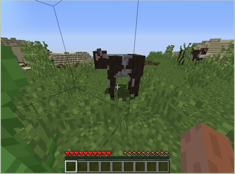 minecraftの牛
